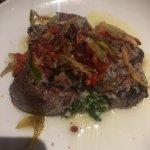 Beef tenderloin with basil pesto