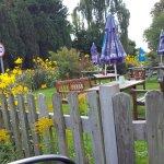 Pub garden.