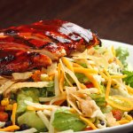 bbq chicken salad with cilantro lime ranch dressing