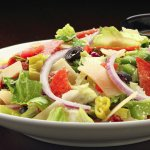 antipasto salad with Italian vinaigrette dressing