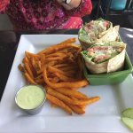 daily special for $11.95, haddock wrap with sweet potato fries