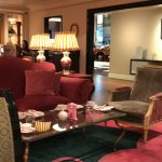 View of the lounge where you can enjoy your tea listening to the live harp performance!