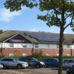 Solar panels on Premier Inn roof