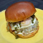 Chimi Burger - Half a Pound of Beef, Chimichurri, Pepper Jack Cheese, Fried Egg, Flash Fried Oni