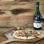 """Try our 16"""" pizza and wine special for only $29!"""