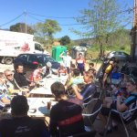 Cafe stop on Thursday shop ride