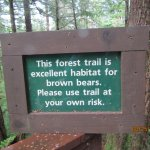 The sign to the trail