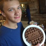 Chocolate waffles a hit with the kids