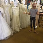 All those weddings dresses over 100 yrs old....Emilie was so happy to see them!