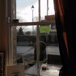 The Wheatsheaf, Carperby, Wensleydale: view from foyer/lounge