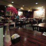 Dining area with nice lighting