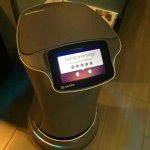 The hotel's robot concierge.