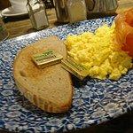 Scrambled egg and smoked salmon