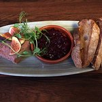 Brixworth Pate with cranberry and orange compote and toasted siurdough