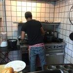 Tiny kitchen, huge chef!