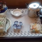 Lovely touch with a tea tray in every room of the self catering accommodation