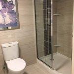 Toilet and shower (with no door)