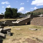 The collapsed Obelisk of Axum