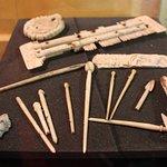 qielques objets découverts lors des fouilles