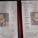 menu del restaurante