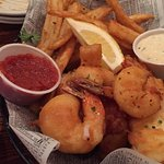 fish and chips with shrimp