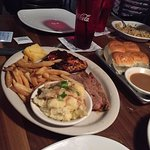 chicken and brisket platter