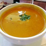 Pumpkin coconut bisque