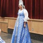 Beautiful costume on the Mistress of Ceremonies!