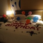The hotel went beyond my expectations to decorate the room for my hubby's birthday!