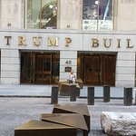 Nearby Wall Street Trump building