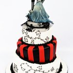 Custom Wedding Cake (Tim Burton theme)