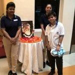 Taken during Jamshedji Tata's Birthday Celebration on 3rd March with Surbhi and Rumana
