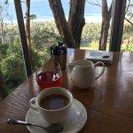 Breakfast at Chris's - view from restaurant of ocean below