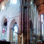 North transept (right) and the west into the nave (left)