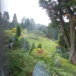 View of grounds from dining window