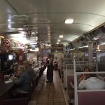 The diner was very spacious and welcoming.