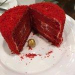 Red velvet mini cake for dessert