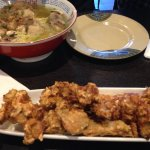 fried chicken appetiser plus seafood ramen
