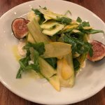 Summer squash and figs with ricotta