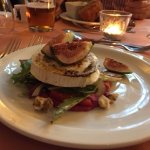 Fig and Walnut Salad, topped with Goats Cheese