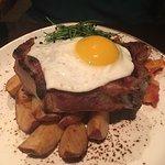 The pork ribeye. So good.
