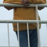 """""""A great image of a passenger enjoying the salty air of the Ferry crossing"""""""