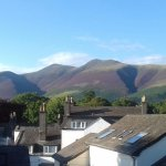 view of Skiddaw from one of the rooms
