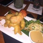 Greasy lobster tempura