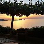 Magnifique coucher de soleil depuis l'appartement de la résidence.