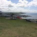 Facilities on the clifftop, including the cafe, gift shop, bowling and camera obscura