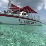 wooow saltydog is the best catamaran tour!!! My husband Loved the drinks!!!! Fruits were my favo