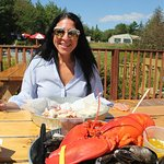 Wife with Lazy Man Lobster, mine Perfect Storm - YUMMY!!