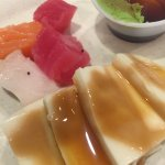 sashimi, tofu