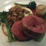 Fillet of O'Coilleains Beef, Short Rib, Sprouting Broccoli, Bone Marrow and Hazelnut Crumb